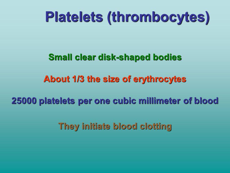 Platelets (thrombocytes)