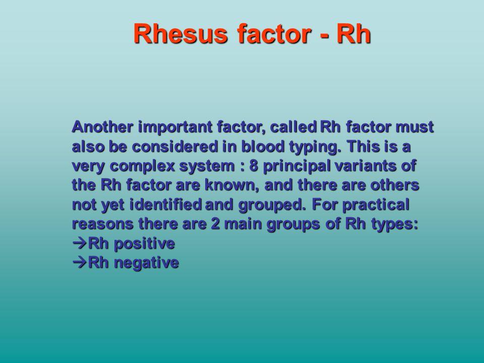 Rhesus factor - Rh