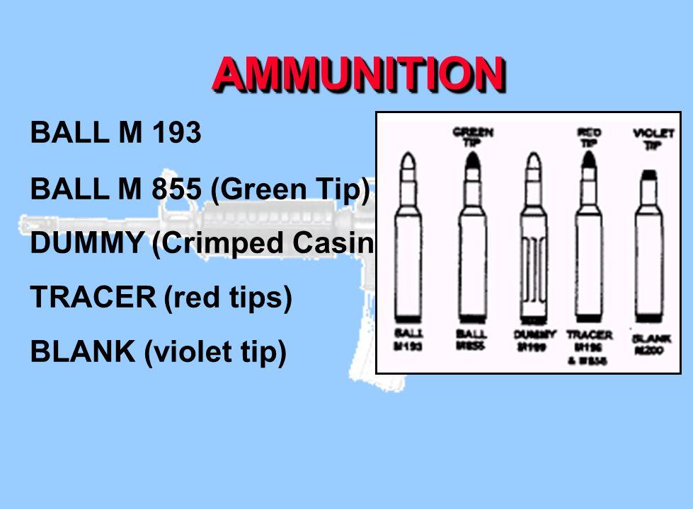 AMMUNITION BALL M 193 BALL M 855 (Green Tip) DUMMY (Crimped Casing)