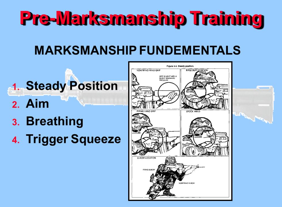 Pre-Marksmanship Training