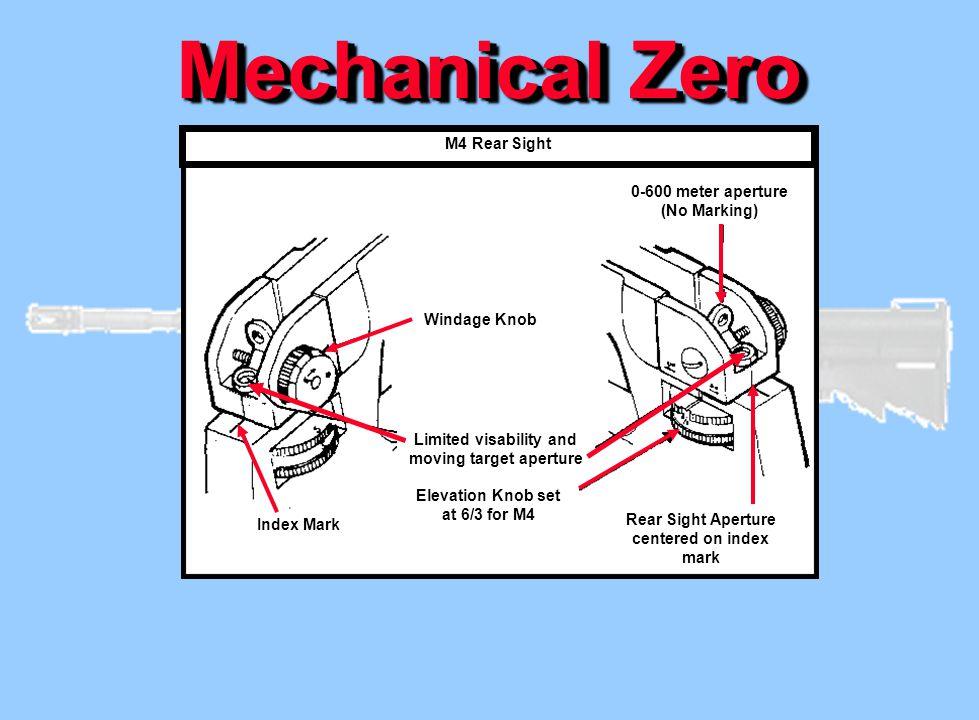 Mechanical Zero M4 Rear Sight 0-600 meter aperture (No Marking)