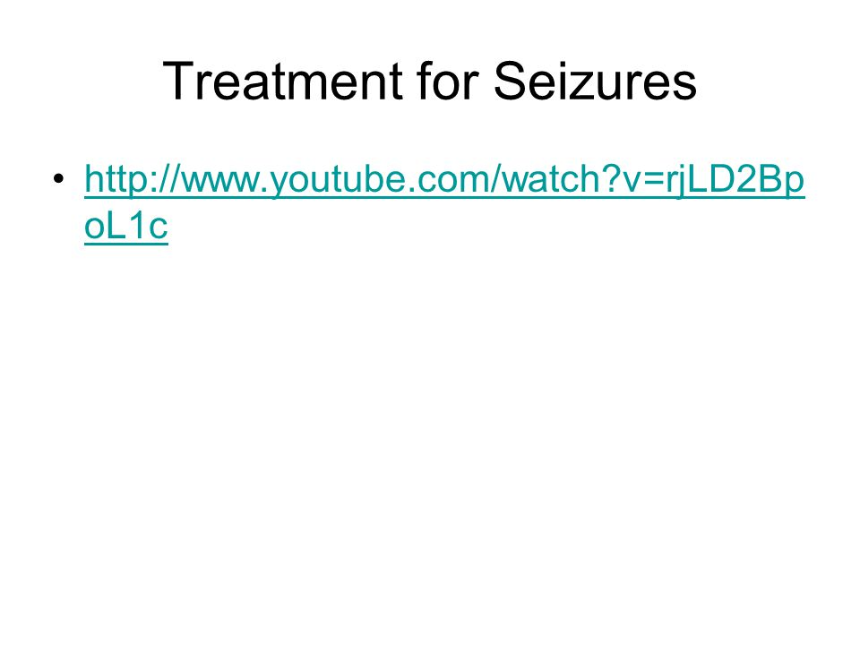 Treatment for Seizures
