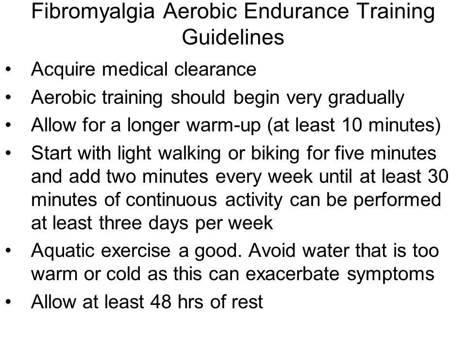 Fibromyalgia Aerobic Endurance Training Guidelines