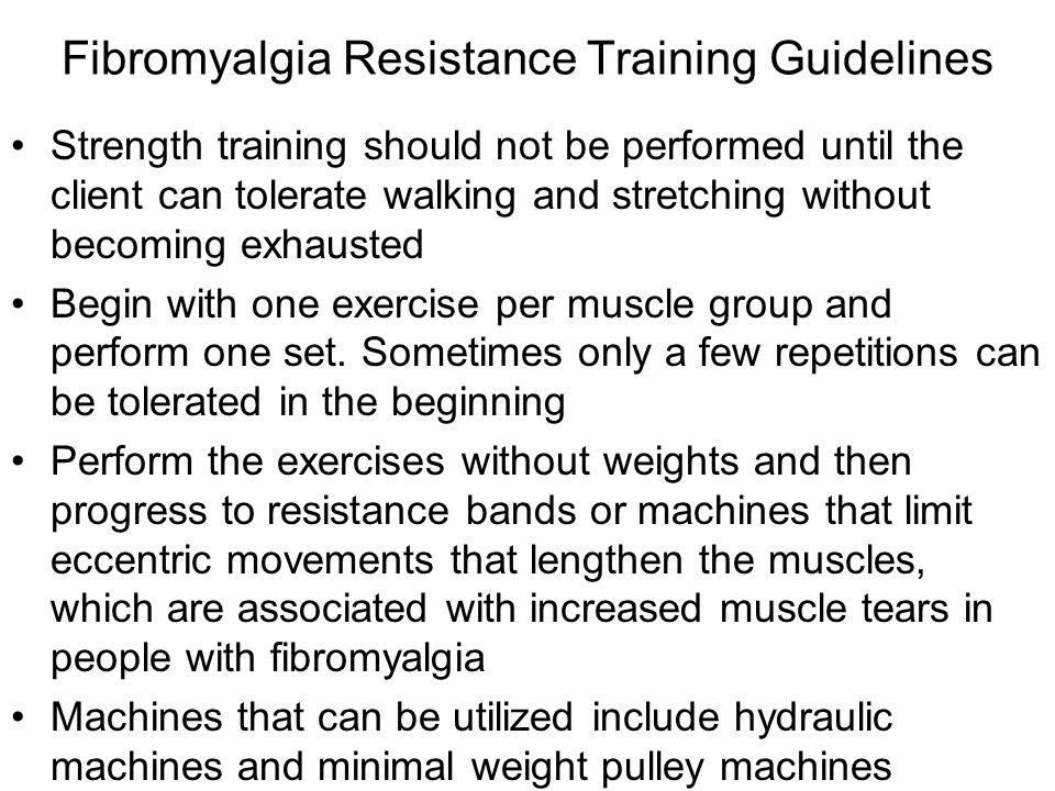 Fibromyalgia Resistance Training Guidelines