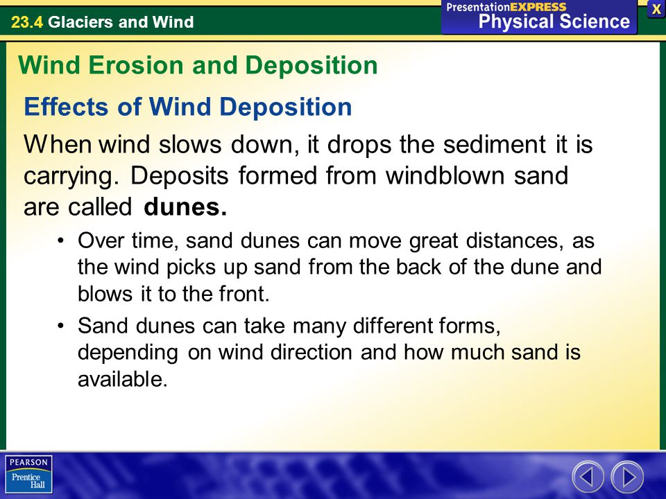 Wind Erosion and Deposition