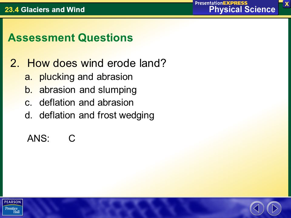 How does wind erode land