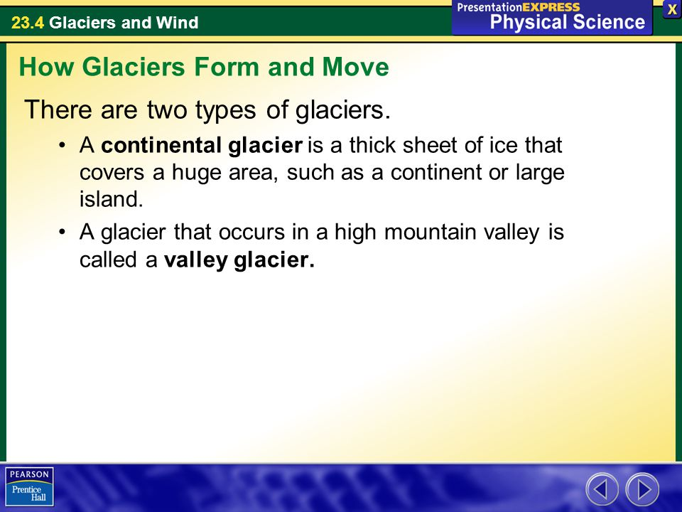 This valley glacier has bands that look like ripples - ppt video ...