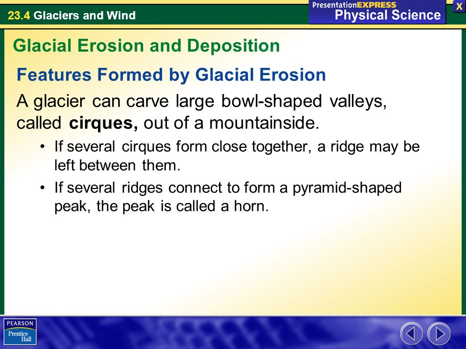 Glacial Erosion and Deposition