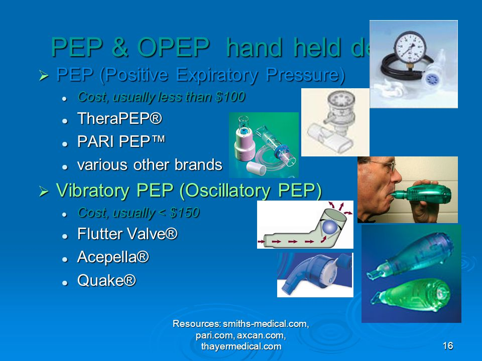 PEP & OPEP hand held devices