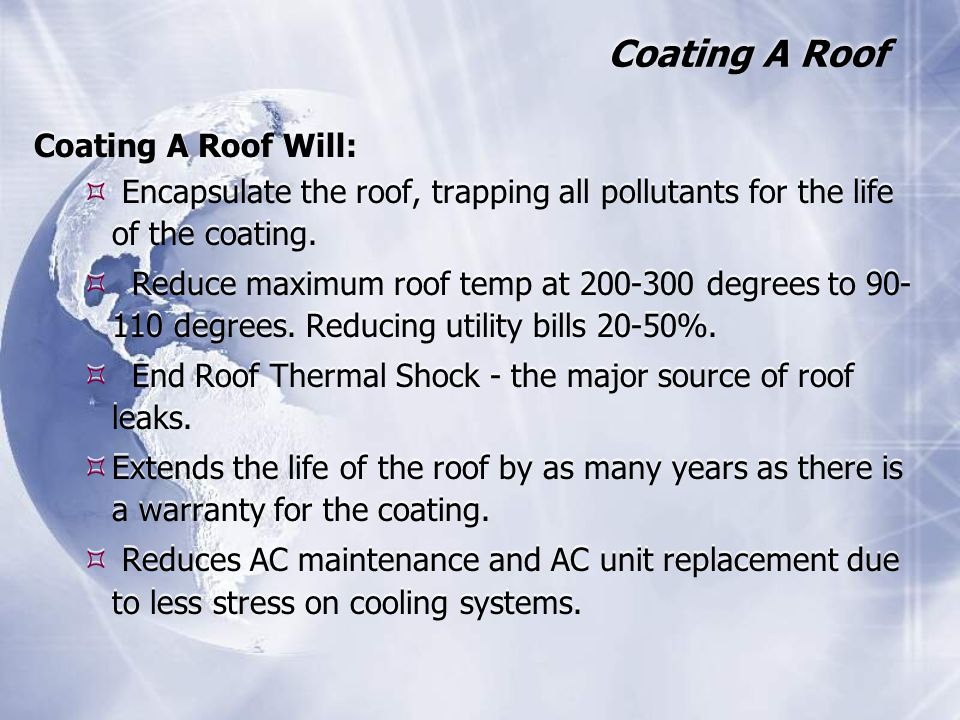 Coating A Roof Coating A Roof Will: