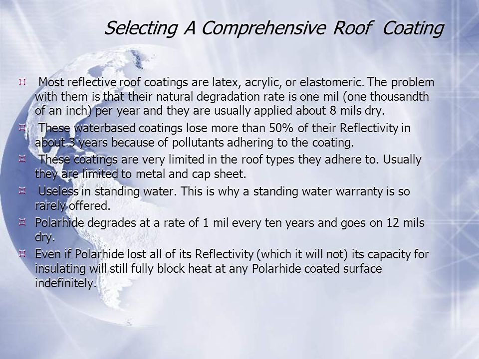 Selecting A Comprehensive Roof Coating
