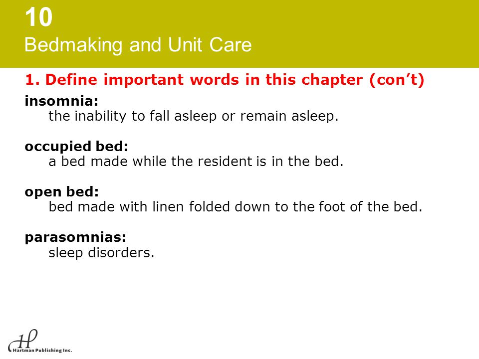 1. Define important words in this chapter (con't)
