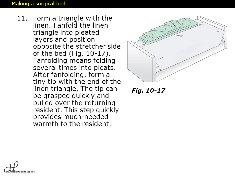 Making a surgical bed