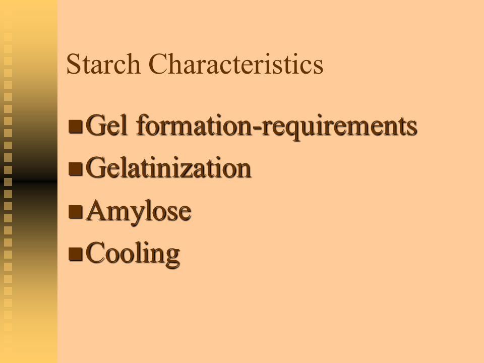 Starch Characteristics