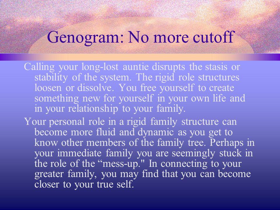 Genogram: No more cutoff