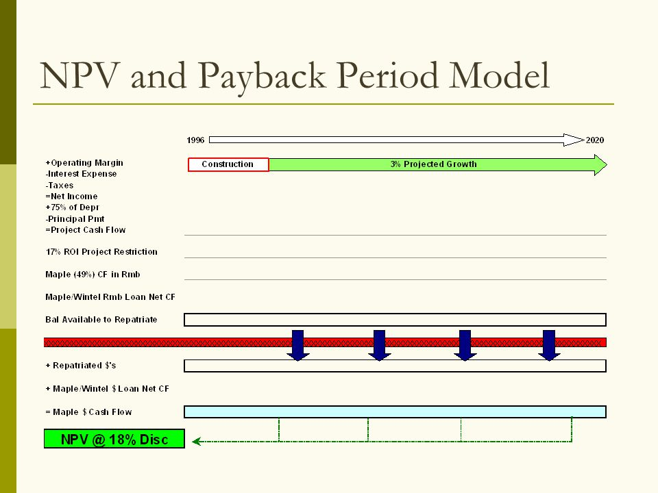 NPV and Payback Period Model