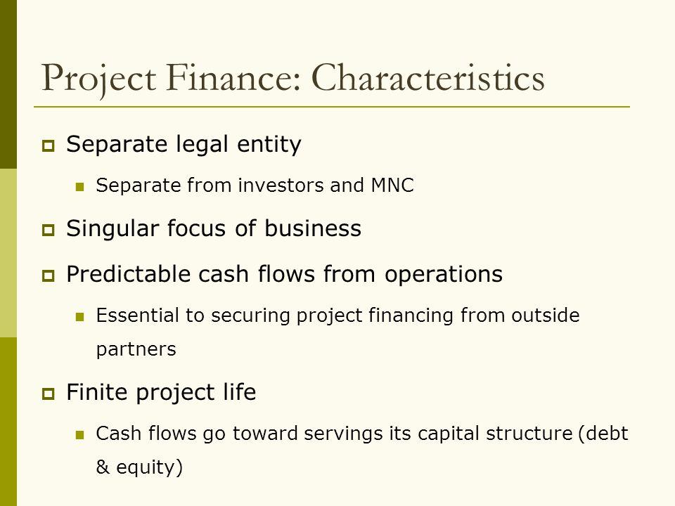 Project Finance: Characteristics
