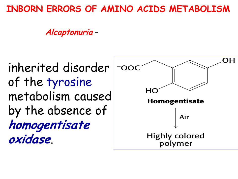 INBORN ERRORS OF AMINO ACIDS METABOLISM