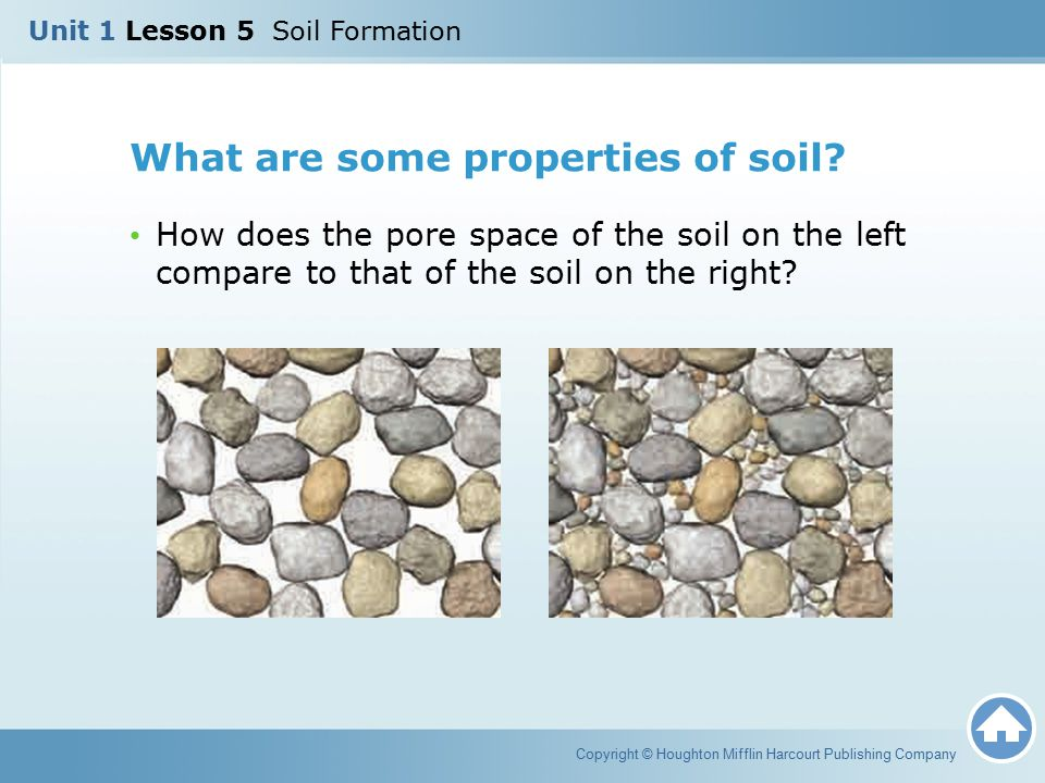 What are some properties of soil