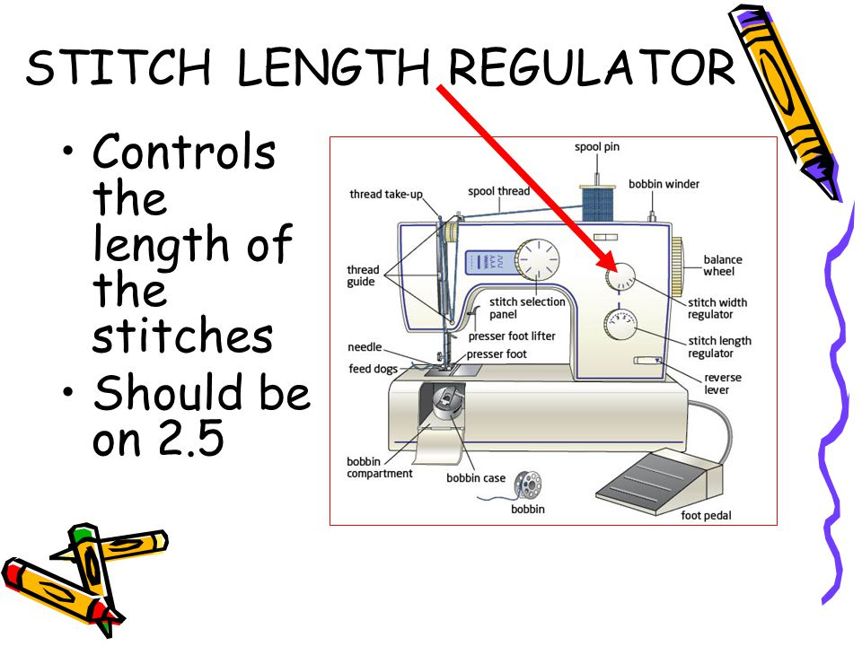 STITCH LENGTH REGULATOR