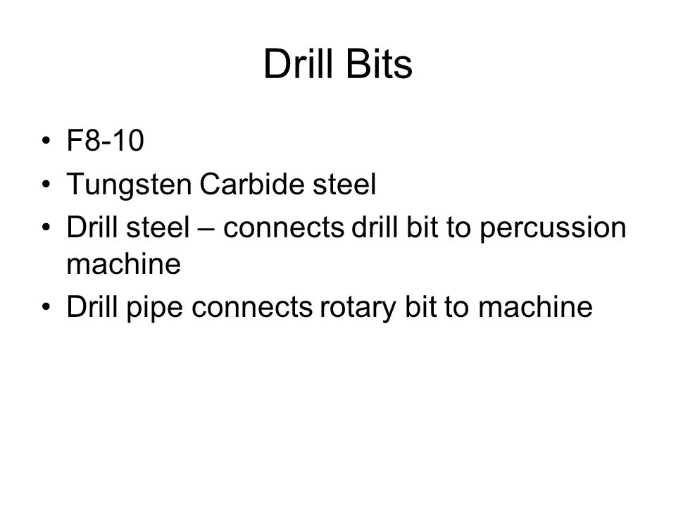Drill Bits F8-10 Tungsten Carbide steel
