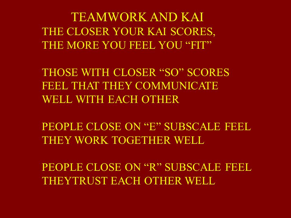 TEAMWORK AND KAI THE CLOSER YOUR KAI SCORES,