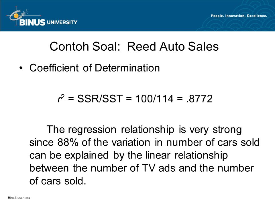 Contoh Soal: Reed Auto Sales
