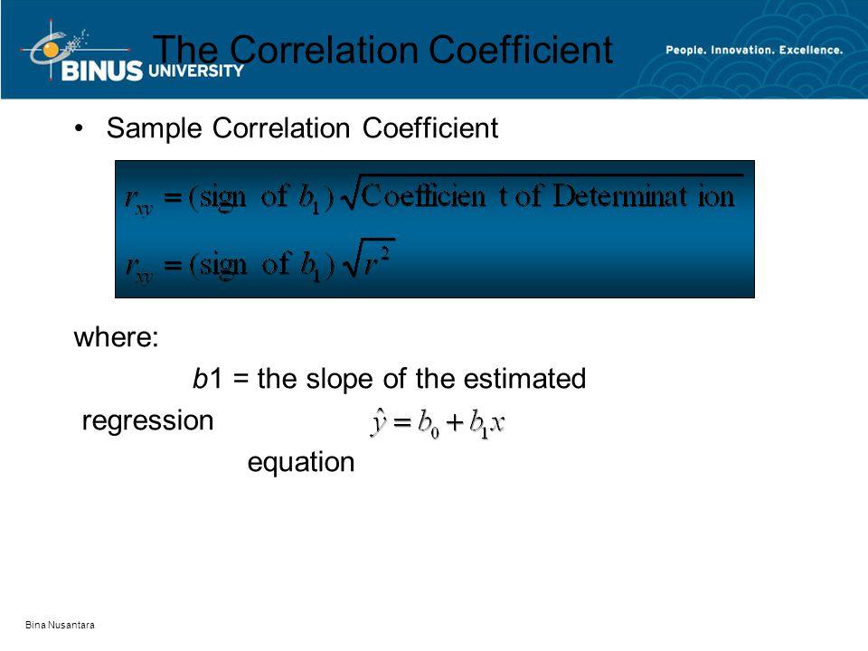 The Correlation Coefficient