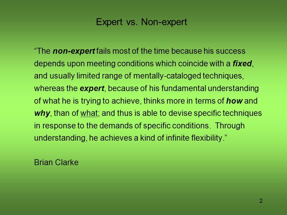 Expert vs. Non-expert