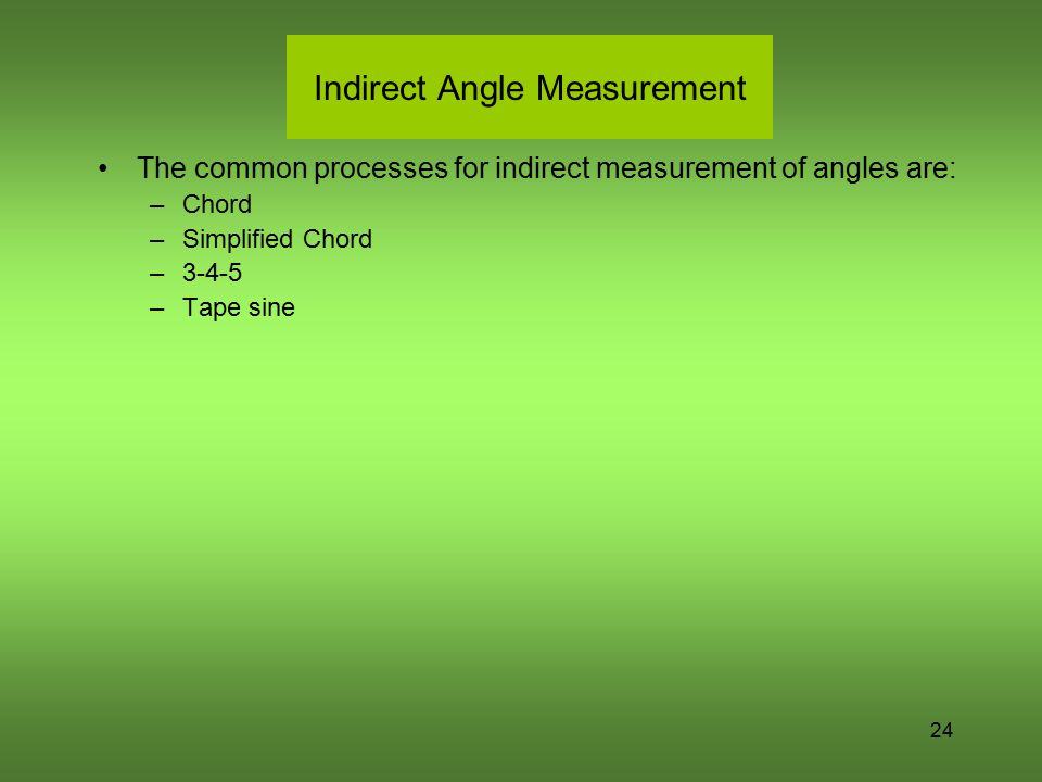 Indirect Angle Measurement