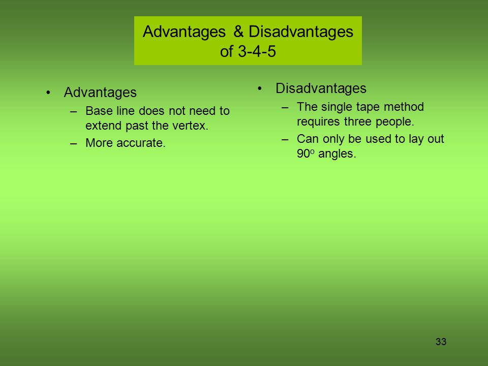 Advantages & Disadvantages of 3-4-5