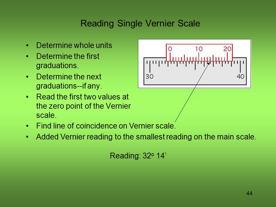 Reading Single Vernier Scale