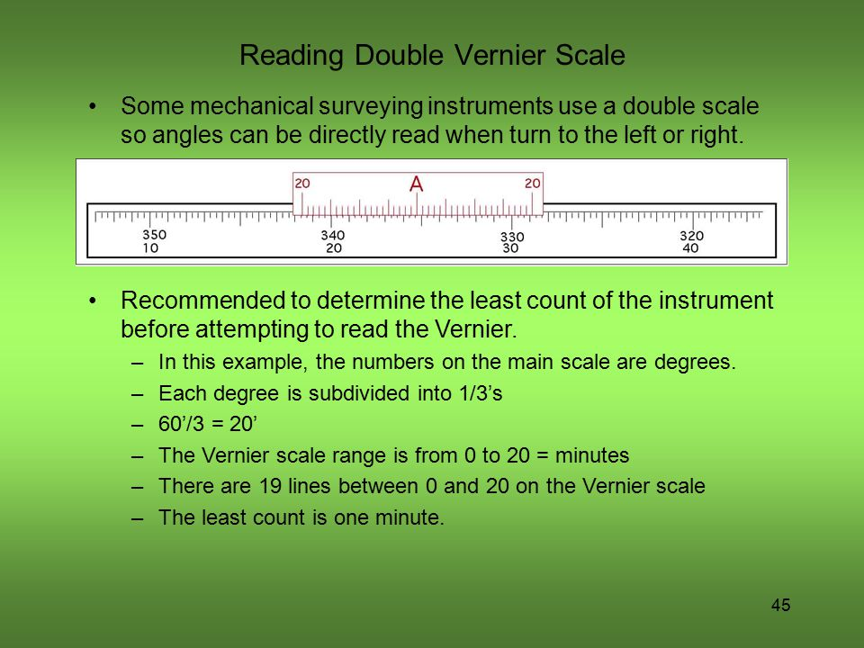 Reading Double Vernier Scale