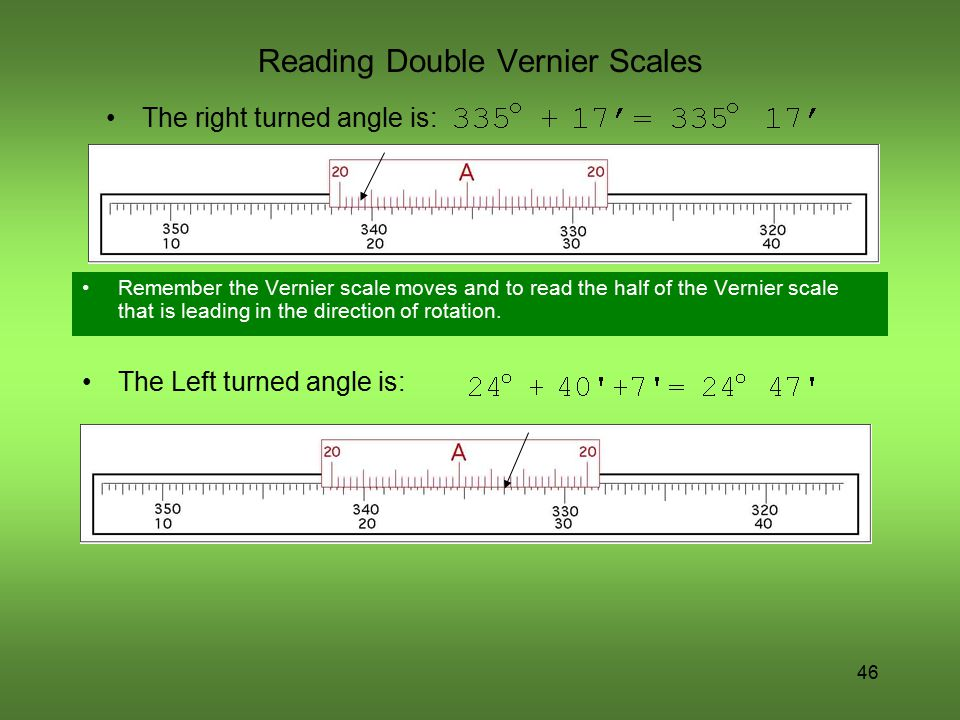Reading Double Vernier Scales
