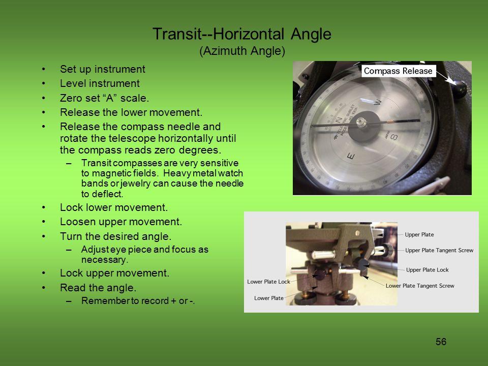 Transit--Horizontal Angle (Azimuth Angle)