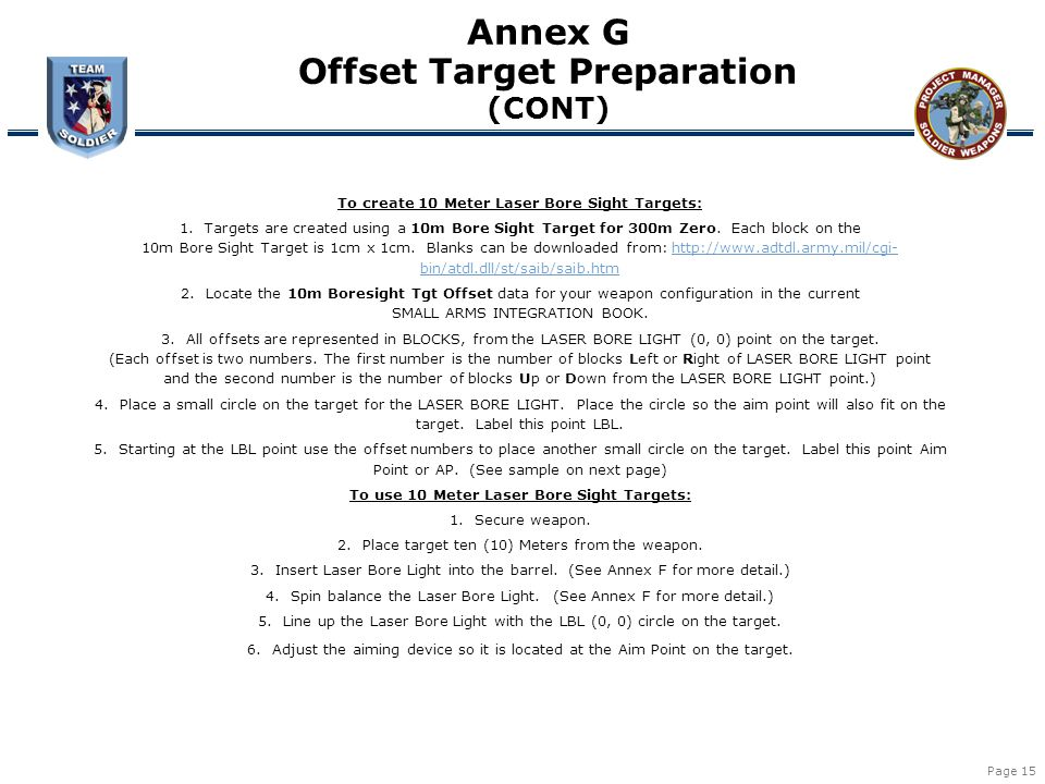 Offset Target Preparation
