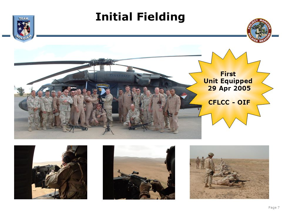 Initial Fielding First Unit Equipped 29 Apr 2005 CFLCC - OIF
