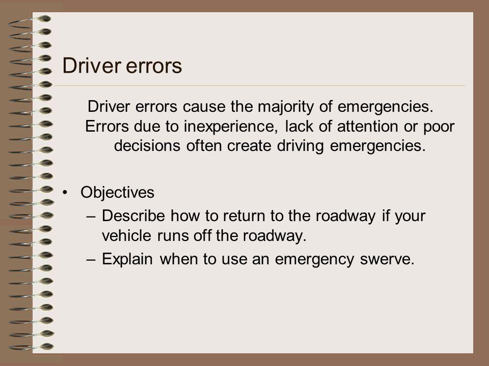Driver errors