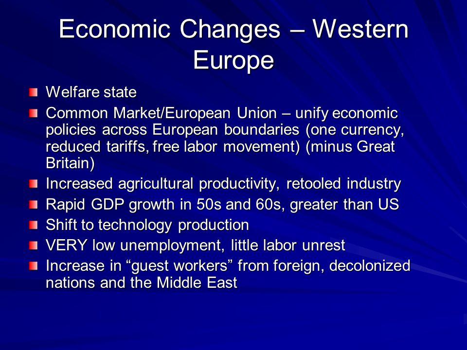 Economic Changes – Western Europe