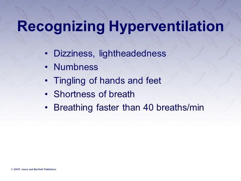 Recognizing Hyperventilation