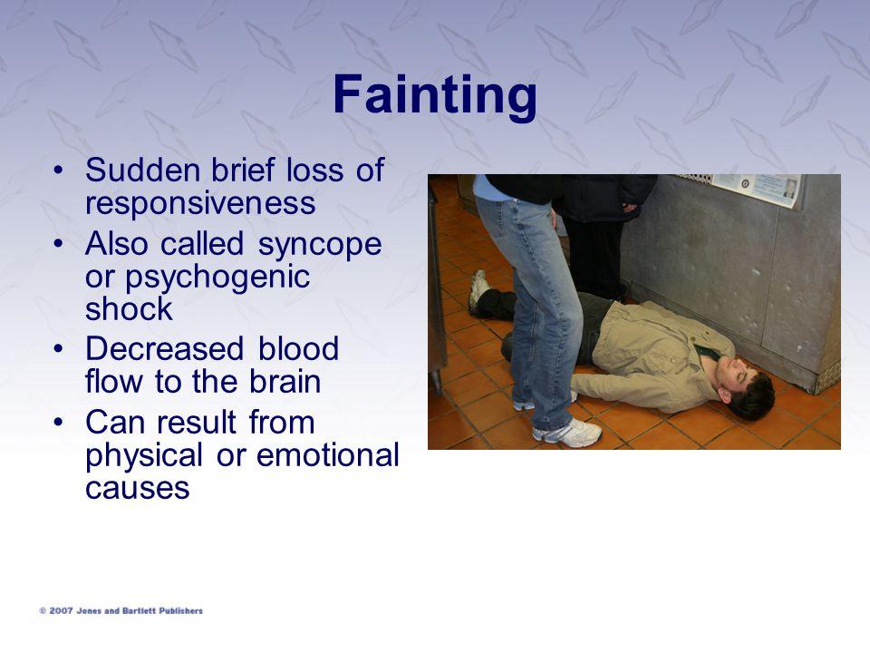 Fainting Sudden brief loss of responsiveness