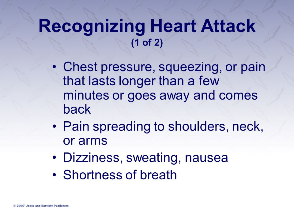 Recognizing Heart Attack (1 of 2)
