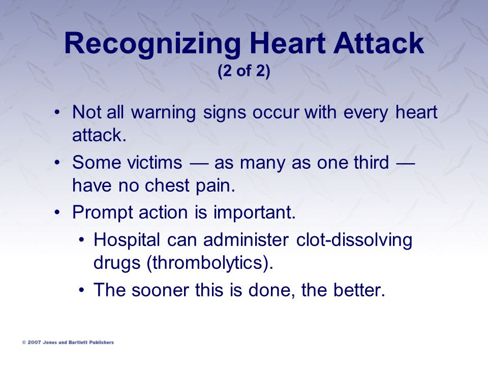 Recognizing Heart Attack (2 of 2)