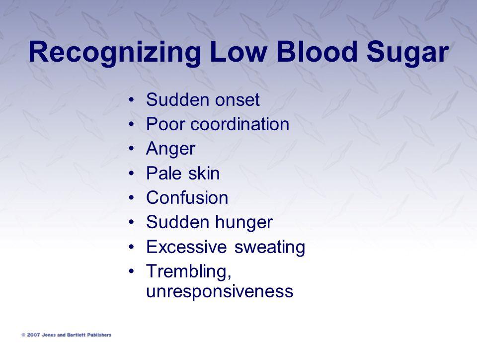 Recognizing Low Blood Sugar
