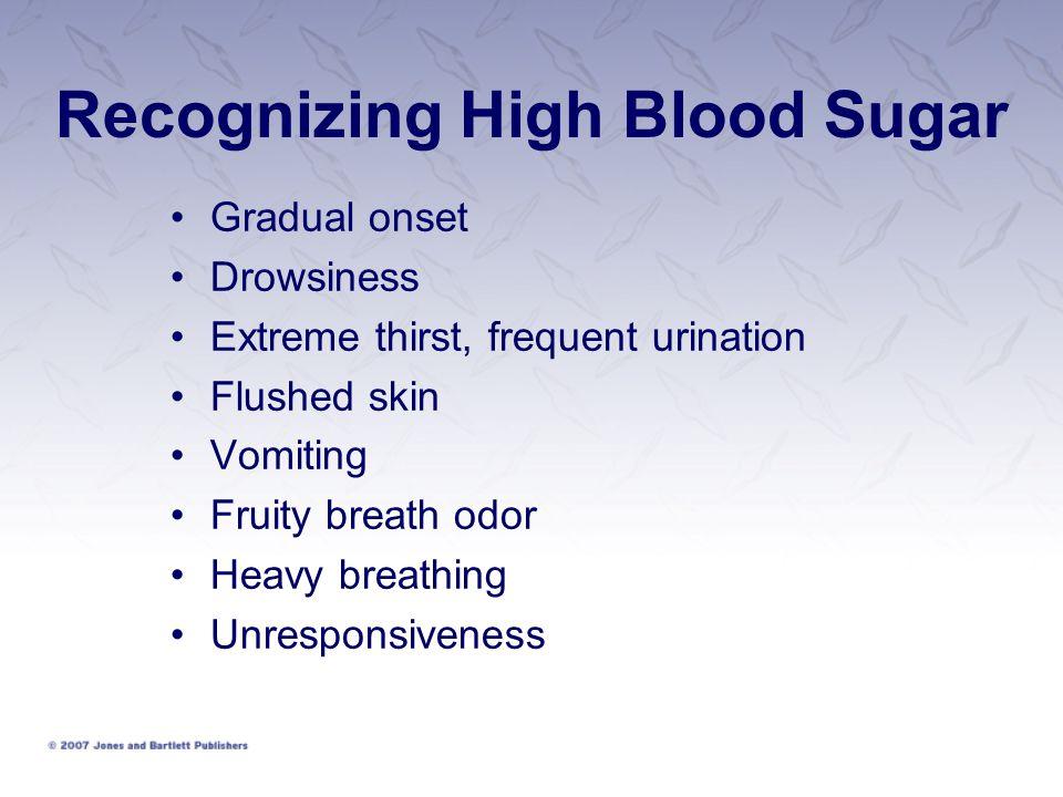 Recognizing High Blood Sugar