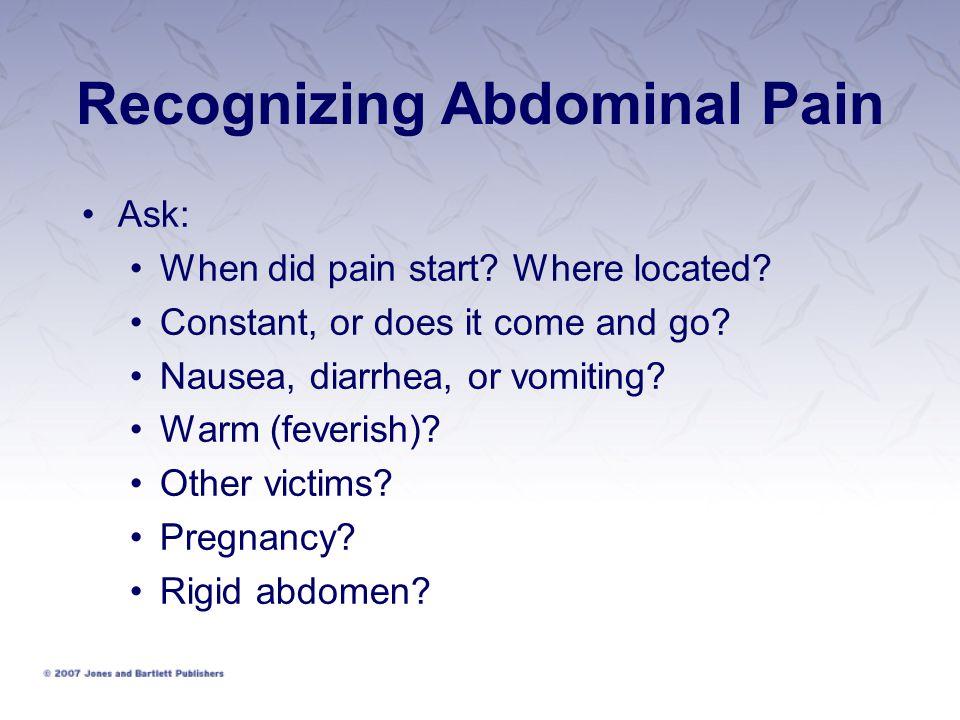 Recognizing Abdominal Pain
