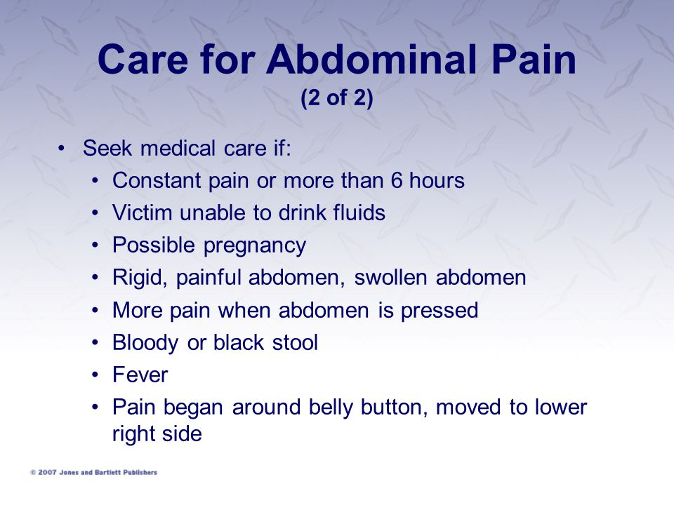 Care for Abdominal Pain (2 of 2)