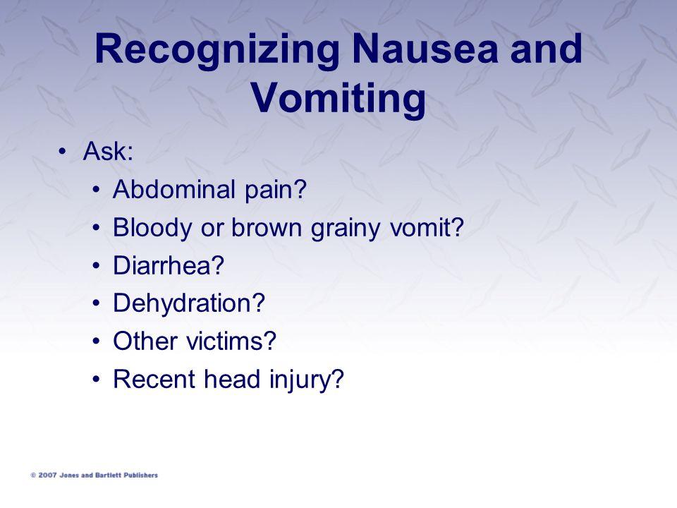 Recognizing Nausea and Vomiting
