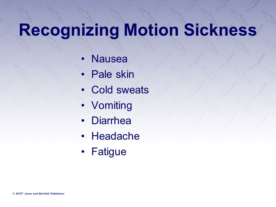 Recognizing Motion Sickness