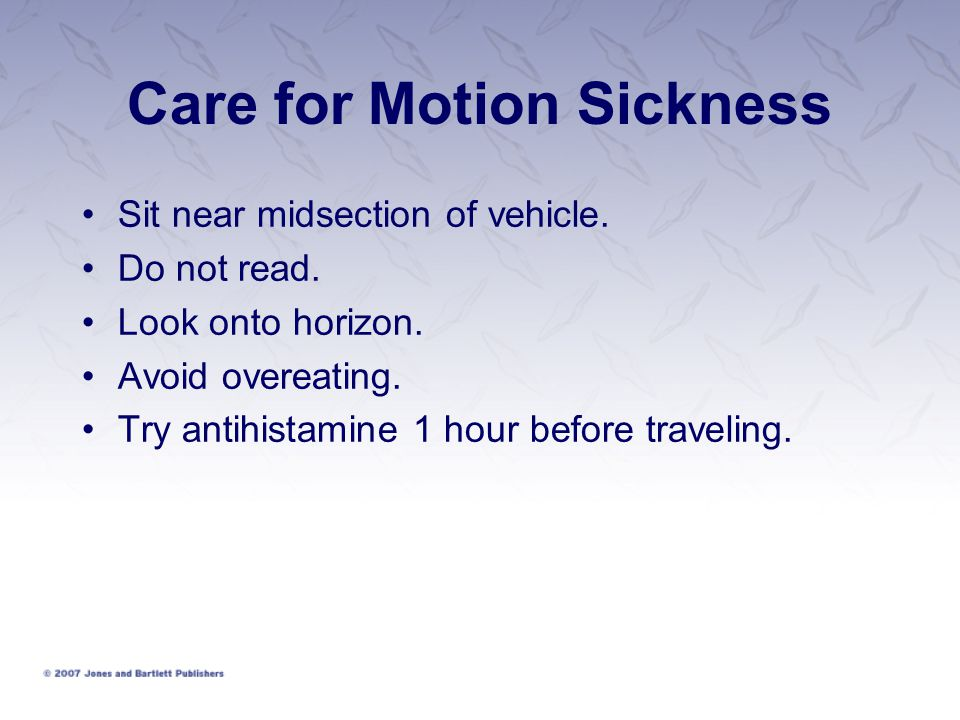 Care for Motion Sickness